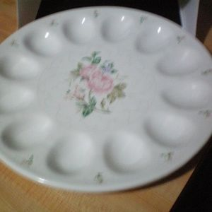 Gorham Lady Anne Deviled Egg Platter Easter 11.5""